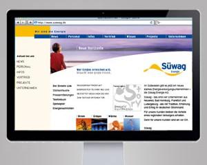Webauftritt SUEWAG AG