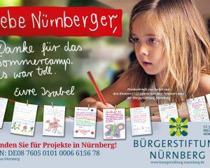 """Spenden-Kampagne """"Kinderbriefe für Nürnberg"""""""